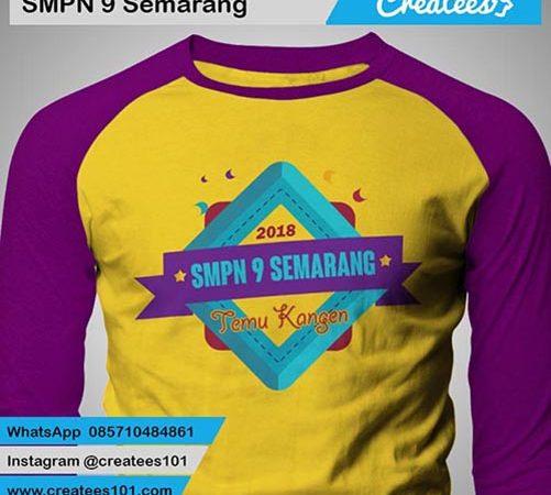 Kaos Reuni SMP 9 Semarang